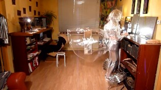 CD Agnes In Silver & Glass Clear PVC Raincoat
