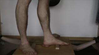 44 minutes trampling balls 'till cum (training dummy, part 3/3)